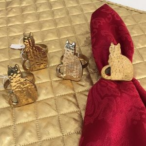 Other - Hammered brass Napkin rings